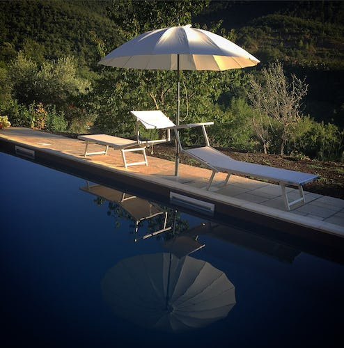Agriturismo Convento di Novole: Pool on the hill