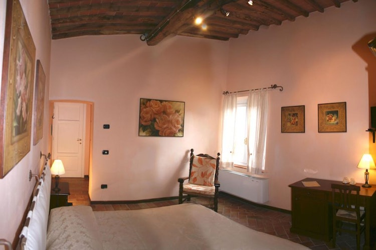 The rooms are decorated in Tuscan style