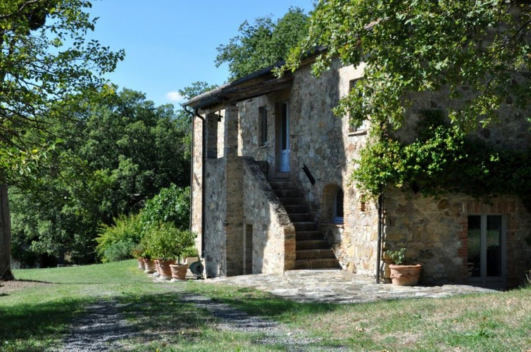 Each villa has its own private garden rich with flowers from Tuscany
