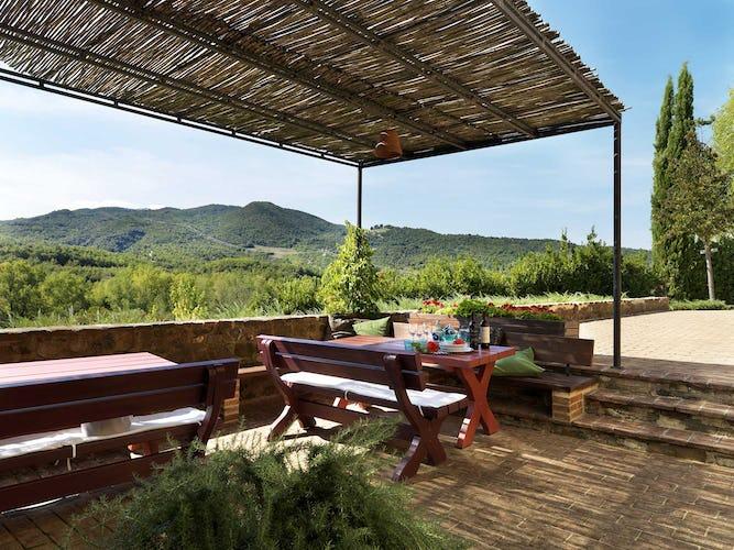 Agriturismo Piettorri - Cena con vista sul paesaggio circostante