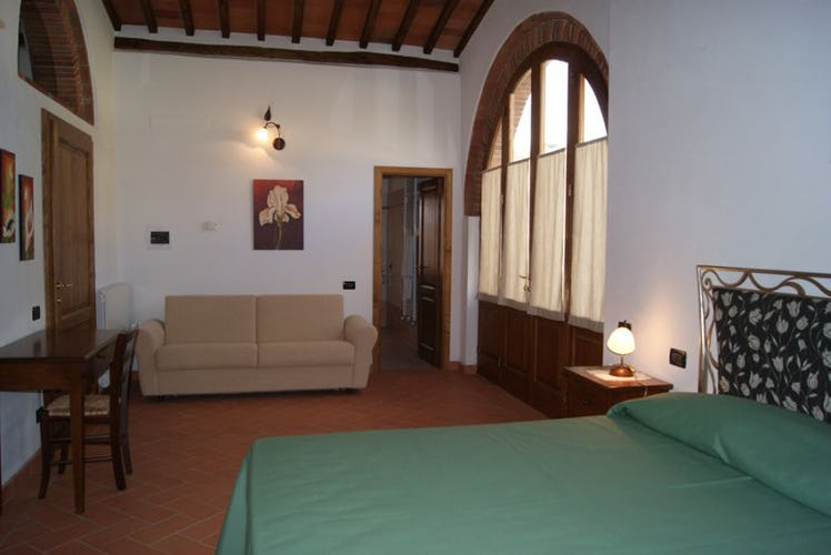 One of the apartment decorated in Tuscan style