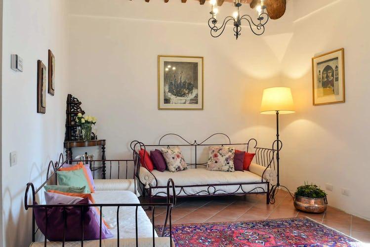Agriturismo San Fabiano: pavimenti in parquet secondo la tradizione toscana rurale