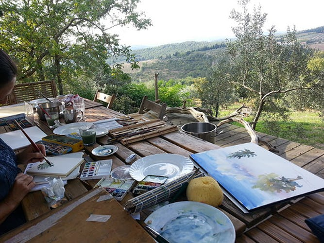 Ancora del Chianti B&B: Ask about a mini art lesson and unleash your creative side in Tuscany
