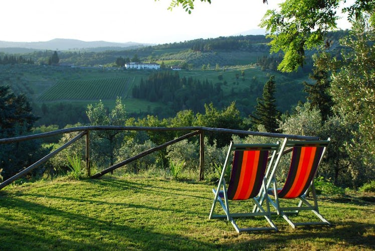 Find your favorite panoramic spot at Ancora del Chianti B&B