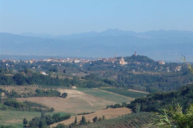 Il bellissimo panorama sulle colline circostanti