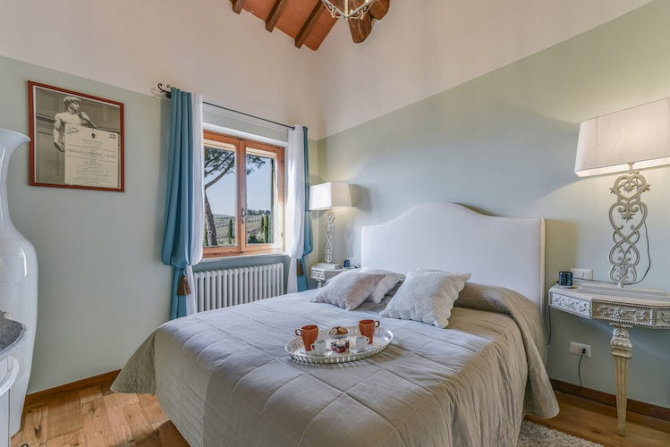 There are four deluxe bedrooms at Belvedere di Viticcio near Greve