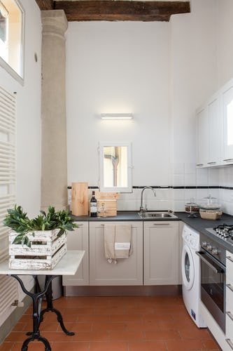 Borgo di Greci Vacation Apartments in Florence: Kitchen includes dishwasher, clotheswasher and full size oven