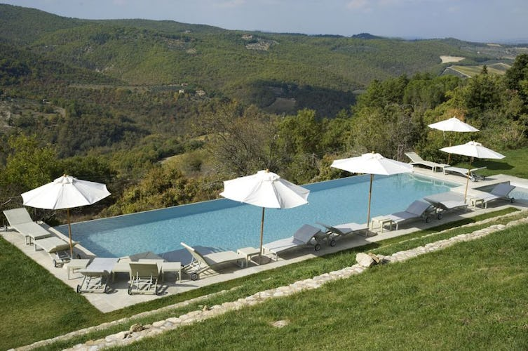 Infinity pool overlooking the Chianti countryside