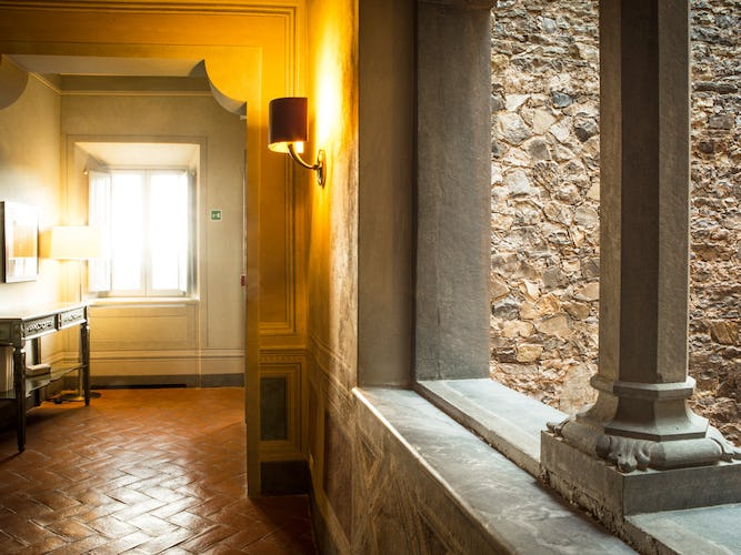 Terracotta tiled floors and interiors mix the past to the present