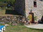 Farmhouse Borgo Tramonte garden and pool
