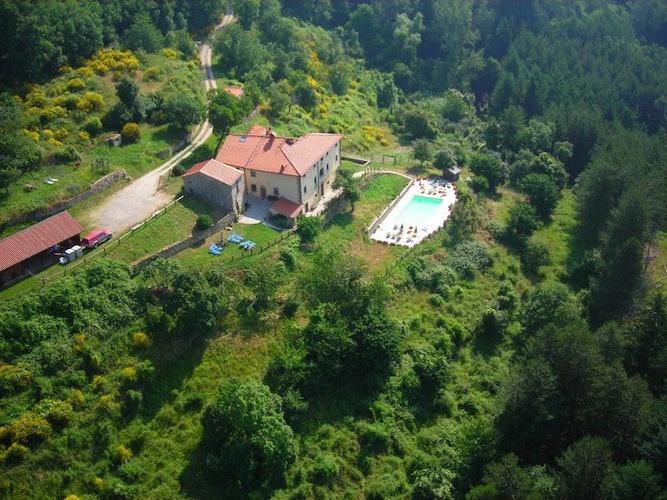 Borgo Tramonte Farmhouse view from high