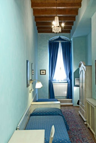 the light blue room at the Florence b&b