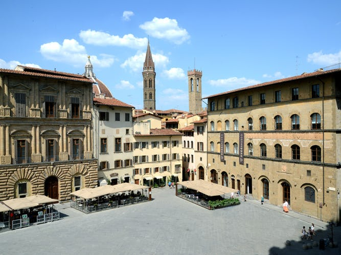View from Piazza della Signoria:Bell towers and dome