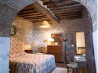 Antique furnishings add a cosy feel to the rental villas near Chianti