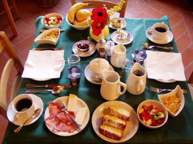A fortifying breakfast is available with local specialities