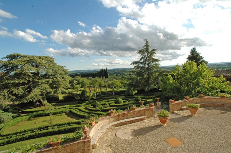 The Garden at Fattoria di Catignano in Chianti