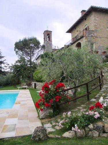 La casa vista della piscina