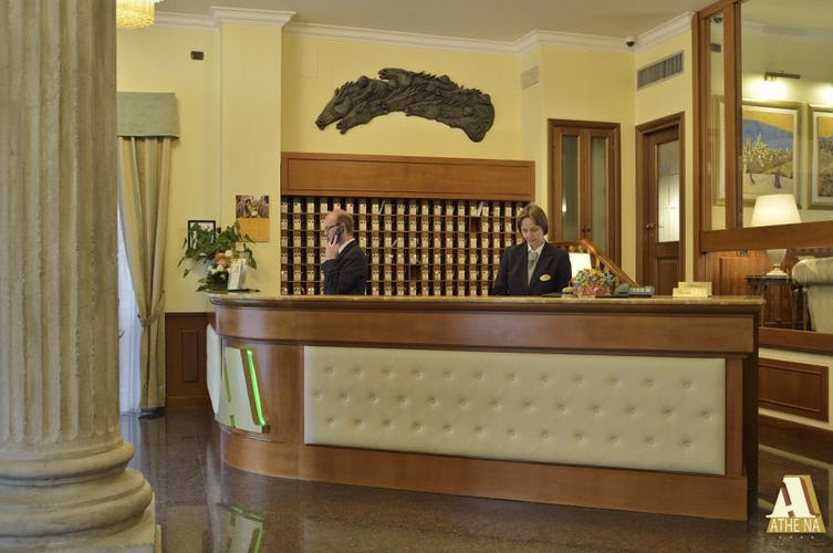 Friendly and corteous staff will greet you at Hotel Athena