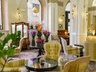 Hotel Bernini Palace - La zona dell'atrio, curata in ogni minimo particolare