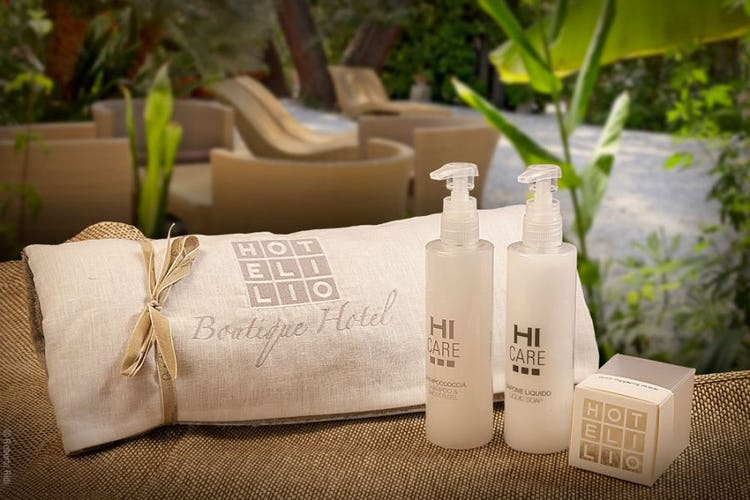 Complimentary toiletries at Hotel Ilio