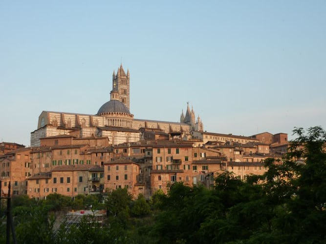 Siena is a beautiful city, close to vineyards, Val d'Orcia & Florence