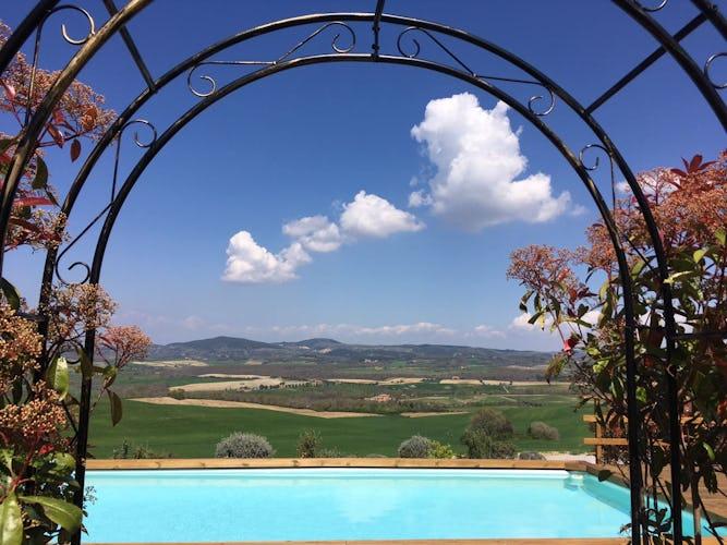 I Cipressini, villa vicino Pienza con vista panoramica meravigliosa