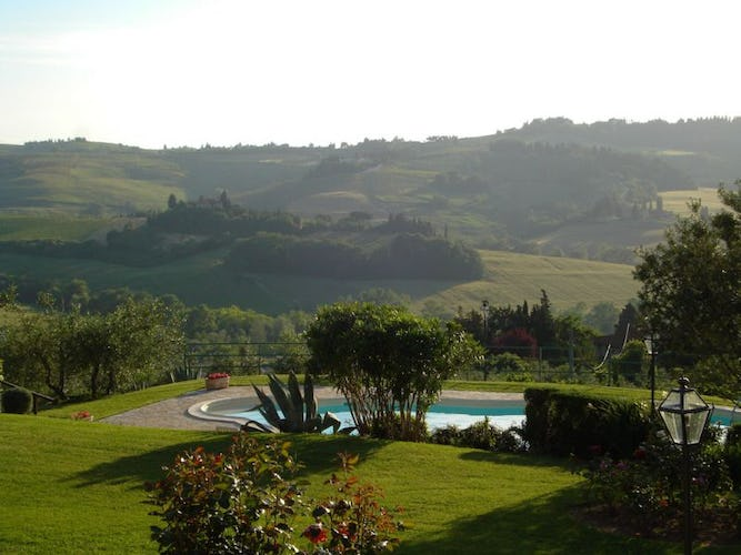 Panoramic View over the Chianti Hills at Il Pogget