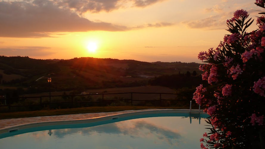 Romantic Sunset at Il Poggetto in Chianti