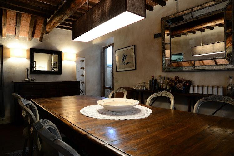 La Casa in Chianti: sala da pranzo con spazio per tutta la famiglia