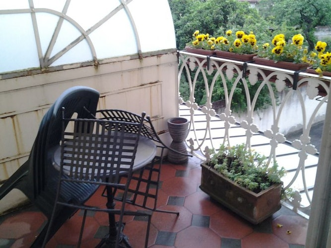 The nice terrace for enjoying al fresco breakfast