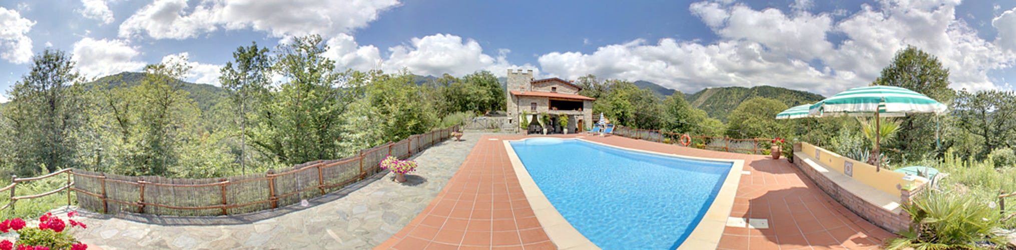 Silence and privacy prevade at the vacation villa rental Montecastello