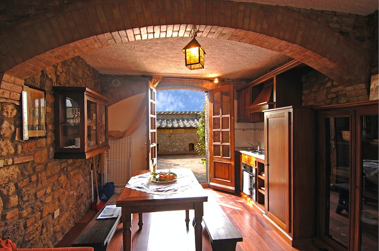 Villa Palagetto:  Authentic stone walls & brick arches