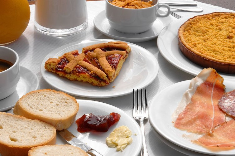 Breakfast highlights the local specialities including a delicious view