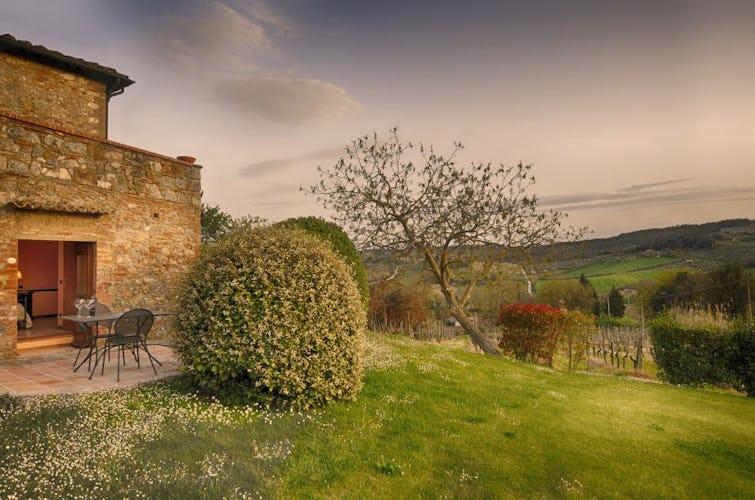 La suite Syrah ha un giardino privato con vedute incredibili