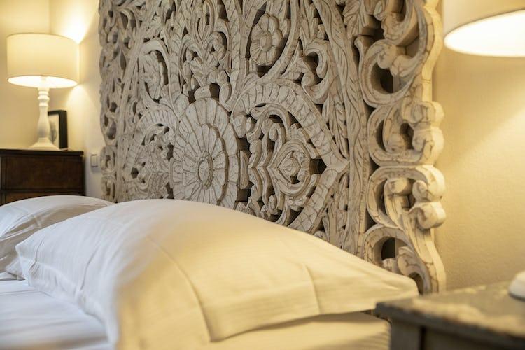 Il letto rispecchia l'accuratezza che caratterizza l'intero agriturismo