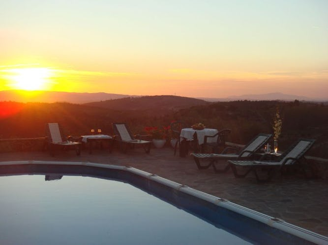 Magnifiche vedute al tramonto sul paesaggio del Chianti
