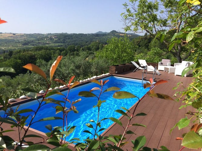 The new pool at Poggio al Sole