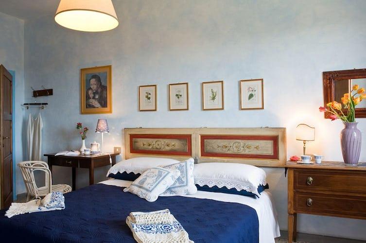 Le camere portano il nome dei colori, questa è la camera blu