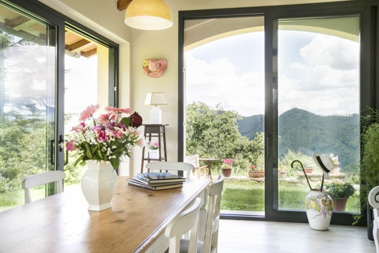 Porch with view on the valley near Florence