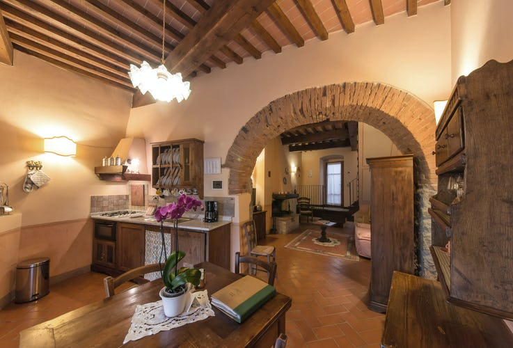 Residence Il Gavillaccio - fully equipped kitchens in the 8 self catering vacation apartment rentals