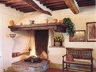 Farmhouse with fireplace
