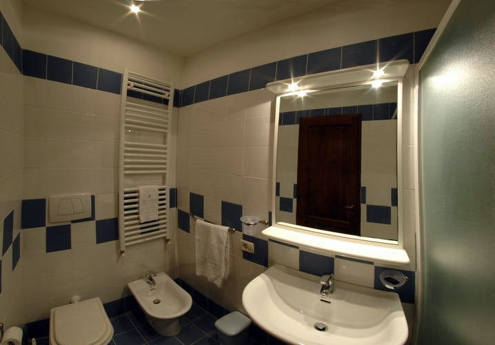 Bathroom at one of the apartments at the Casolare