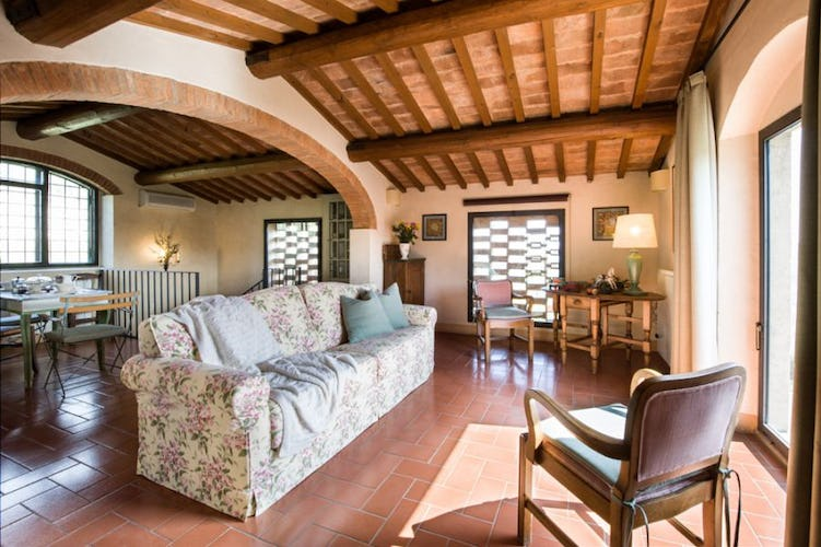 Living room at Torre a Cona