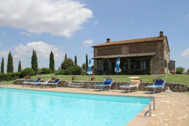 Villa Corsanello swimming pool with solarium
