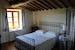 Blue bedroom villa near Siena