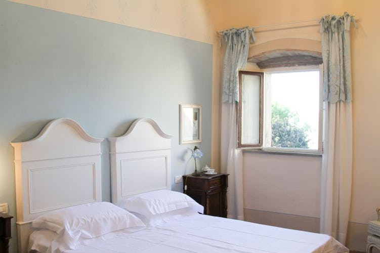 Each room boasts beautiful views of Chianti at Villa Fillinelle