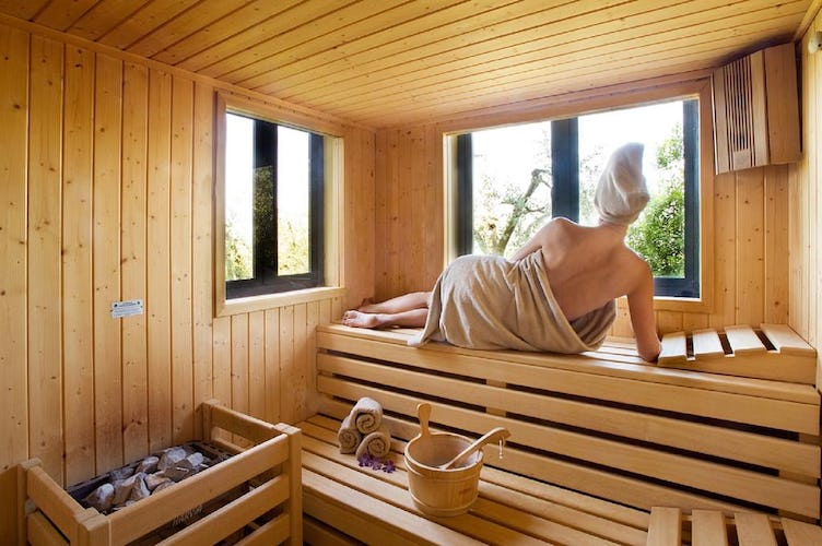 Villa I Barronci: Spa facilities for the guests