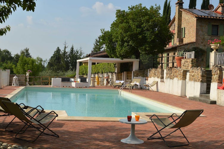 Villa La Fonte Vacation Rental - pool with gazebo