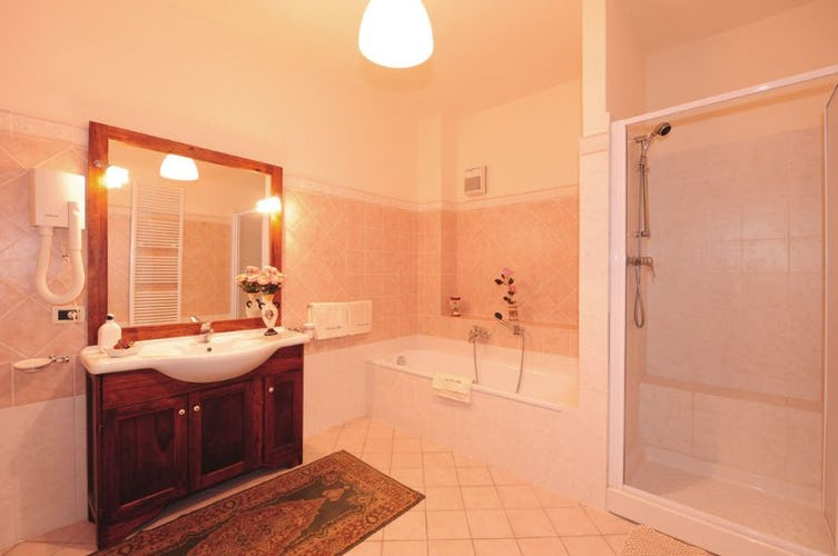 The bathrooms are especially large & comfortable at Villa Rossi-Mattei